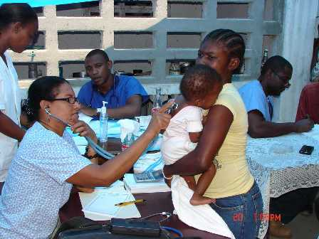 Haiti Medical Clinic at work