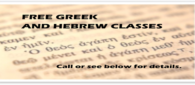 Greek and Hebrew Classes
